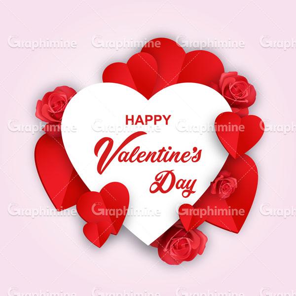 دانلود وکتور طرح قلب تبریک روز ولنتاین