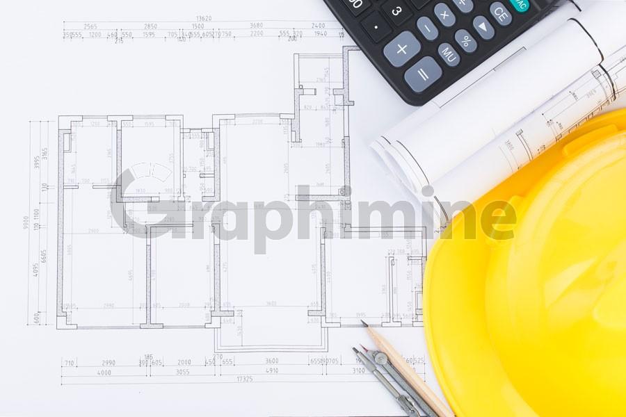 تصویر استوک نقشه معماری ساختمان