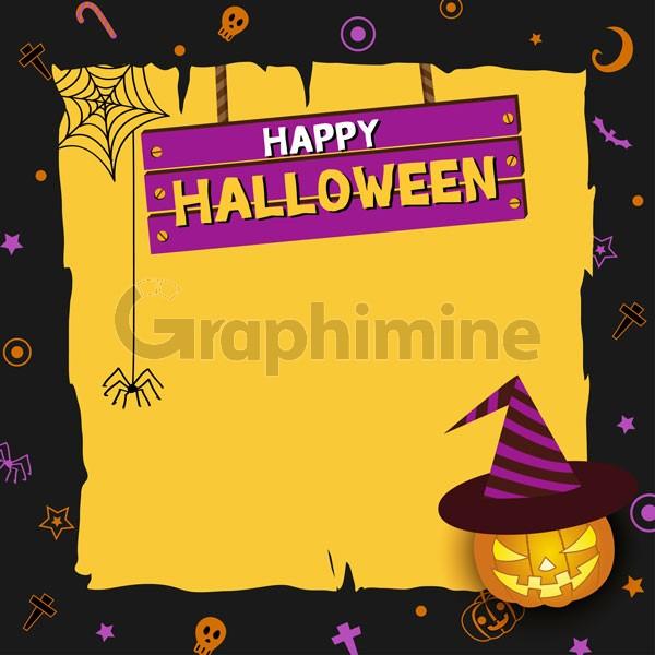وکتور بنر طرح هالووین