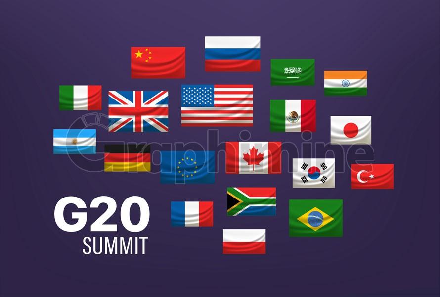 وکتور پرچم کشورهای گروه جی ۲۰