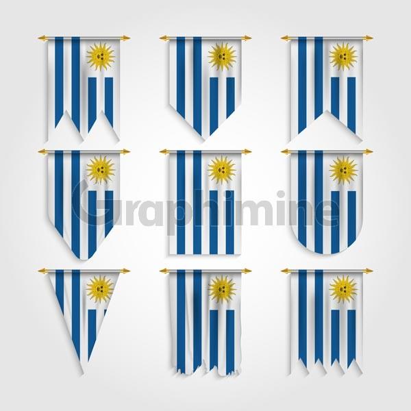 وکتور پرچم کشور اروگوئه