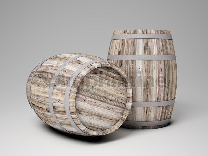 تصویر استوک بشکه چوبی