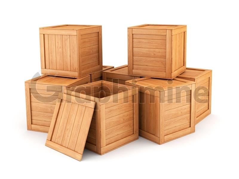 تصویر استوک جعبه چوبی