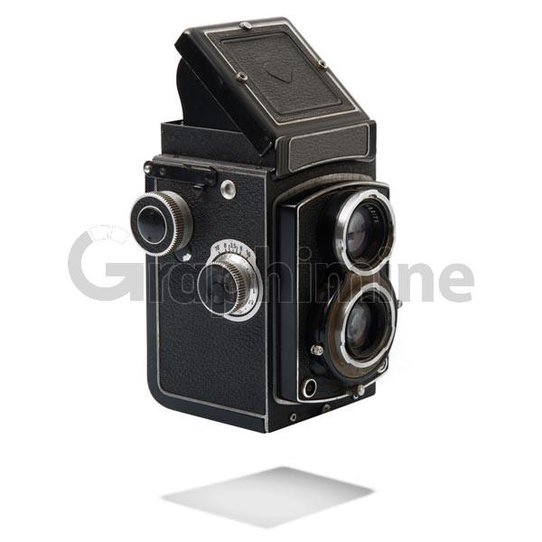 تصویر استوک دوربین عکاسی قدیمی