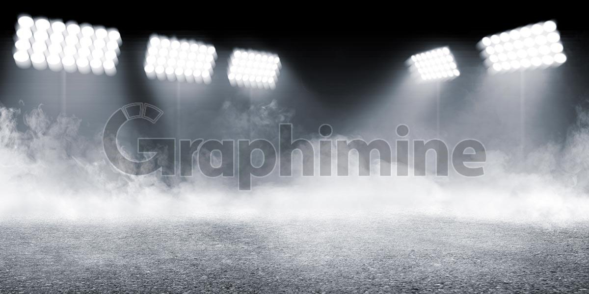 تصویر استوک نورافکن نورپردازی دود