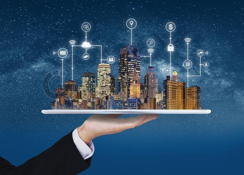 عکس استوک شهر هوشمند فناوری
