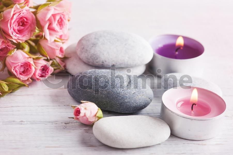 تصویر استوک گل سنگ شمع
