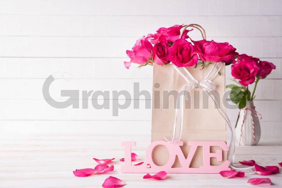عکس استوک گل رز ولنتاین