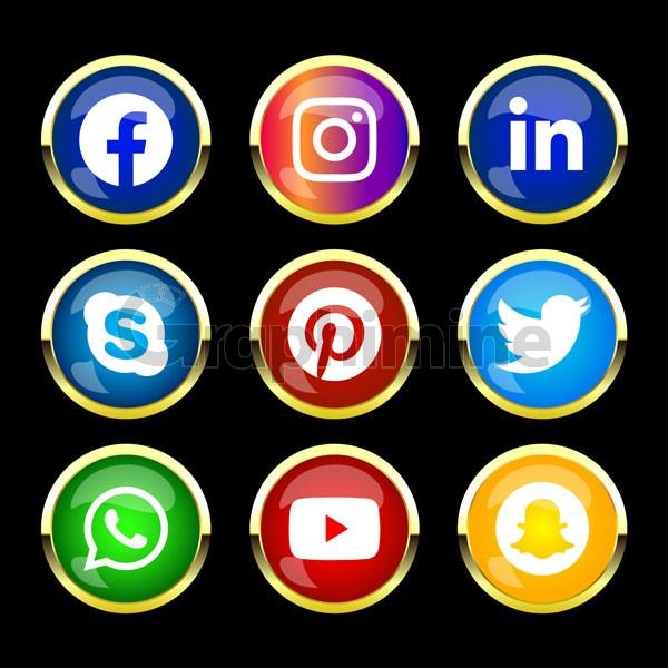 وکتور آیکن رسانه اجتماعی