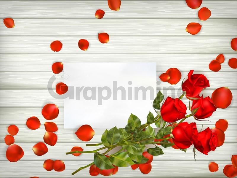 وکتور شاخه گل رز گلبرگ پس زمینه