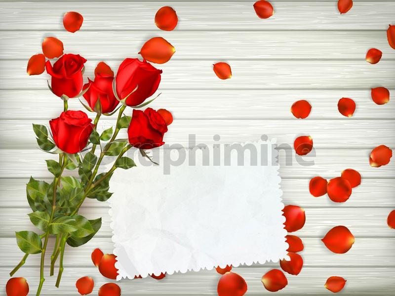وکتور شاخه گل کاغذ پس زمینه