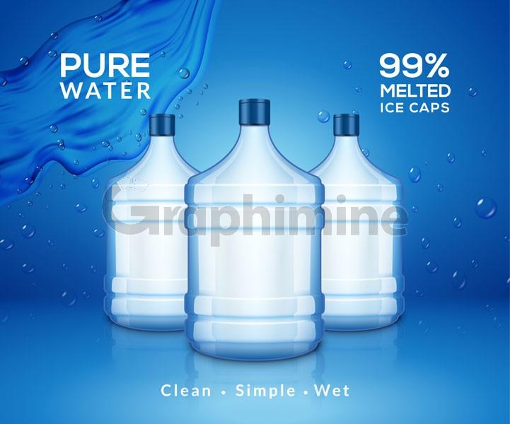 وکتور بطری آب