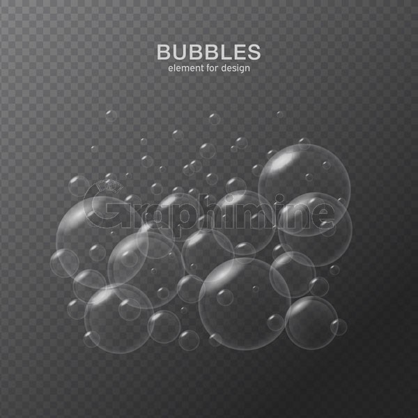 وکتور حباب شفاف