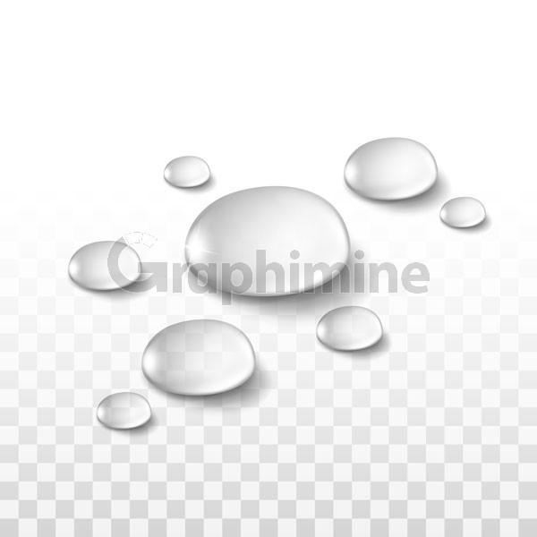 وکتور قطره آب
