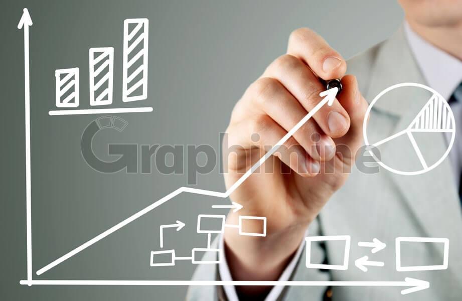 تصویر استوک نوشتن نمودار یادگیری