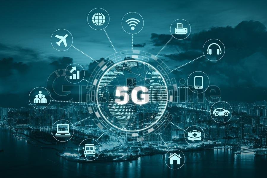 تصویر استوک تکنولوژی 5G