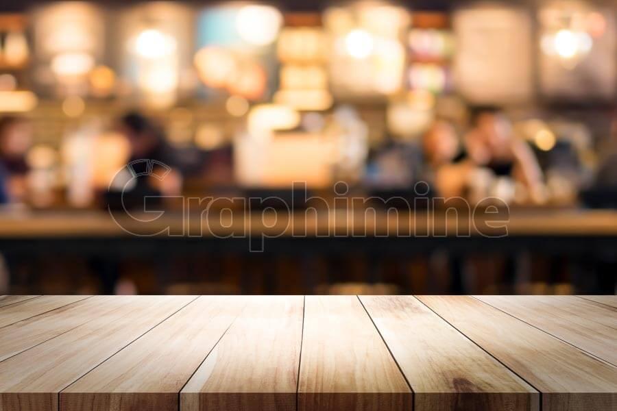 تصویر استوک میز چوبی نمایش محصول