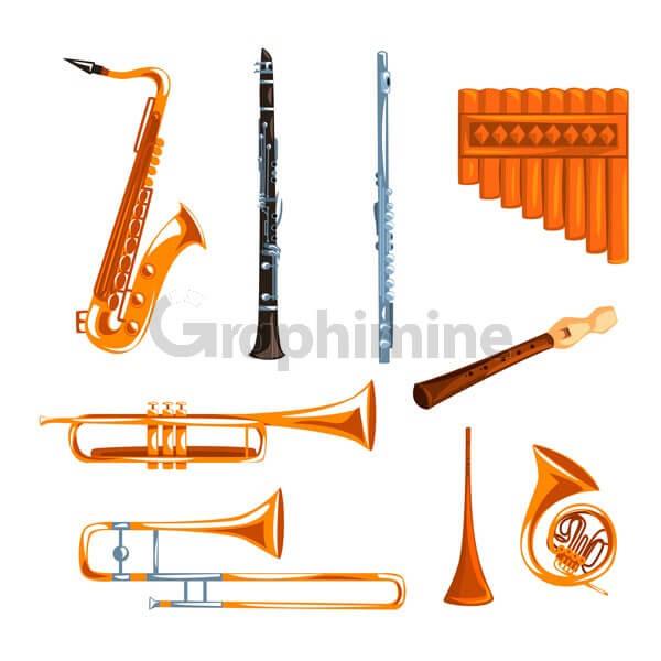 وکتور آلات موسیقی ساز
