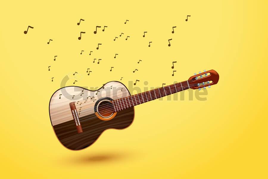 وکتور ساز گیتار