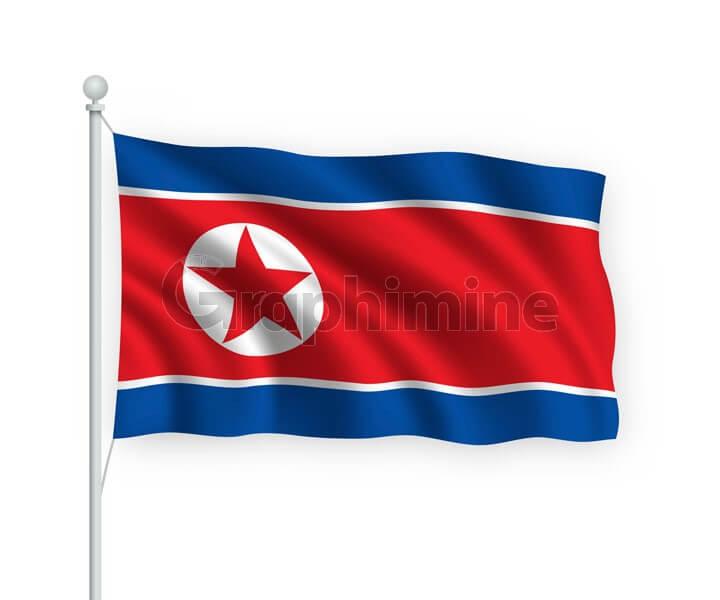 وکتور پرچم کشور کره شمالی