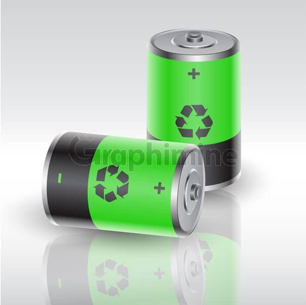 وکتور باطری انرژی تجدید پذیر پاک
