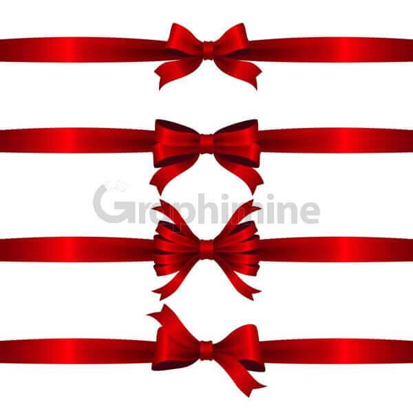 وکتور روبان قرمز کریسمس