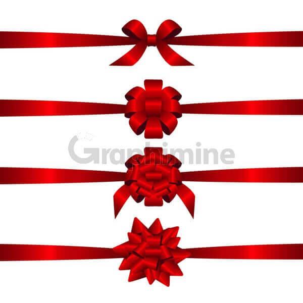 وکتور روبان کریسمس قرمز