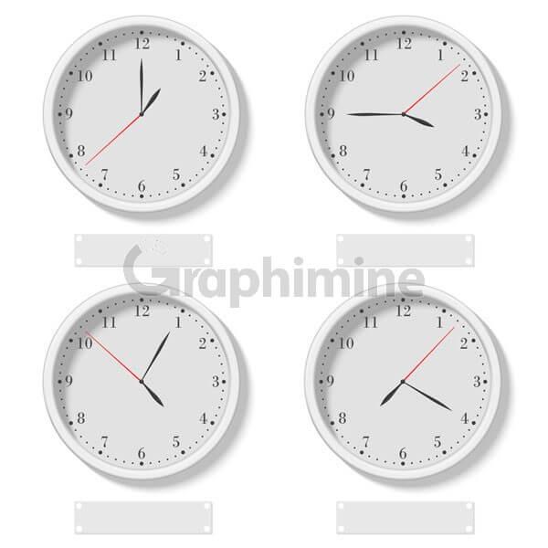 وکتور ساعت دیواری کلاسیک دایره ای