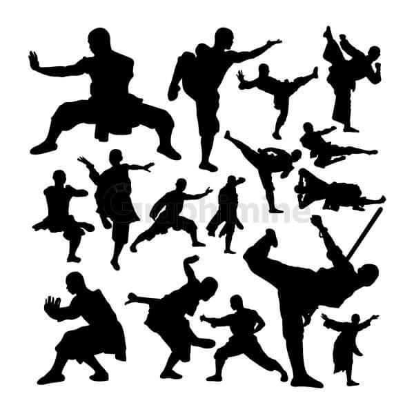 وکتور سایه راهب ورزش رزمی شائولین