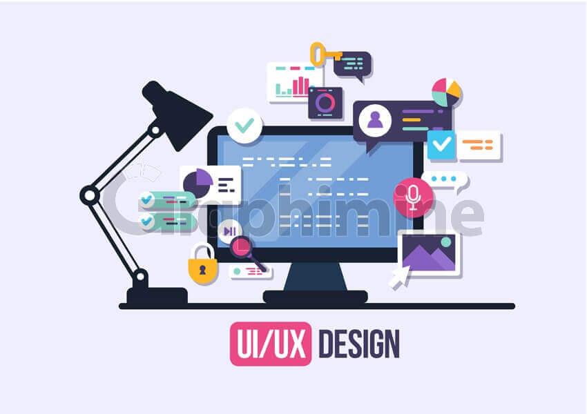 وکتور طراحی رابط کاربری ui ux خلاقانه اپلیکیشن