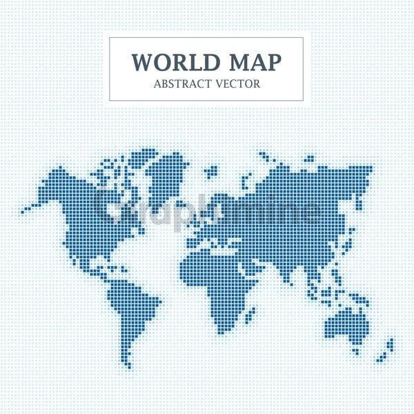 وکتور طرح انتزاعی نقشه زمین نقطه پیکسل