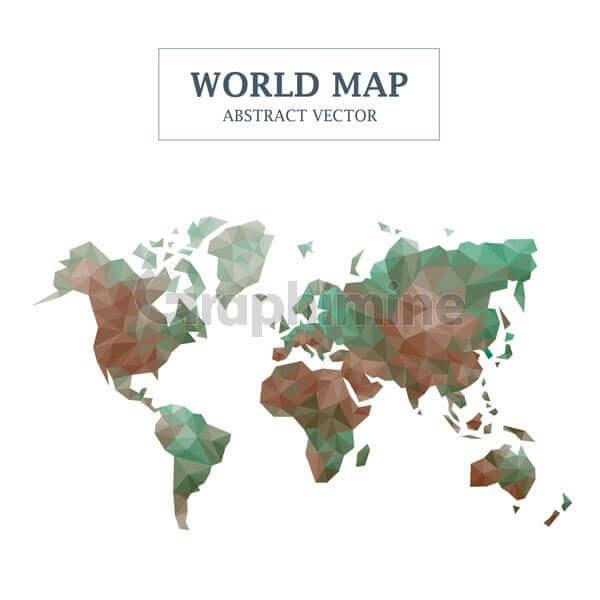 وکتور طرح انتزاعی نقشه زمین