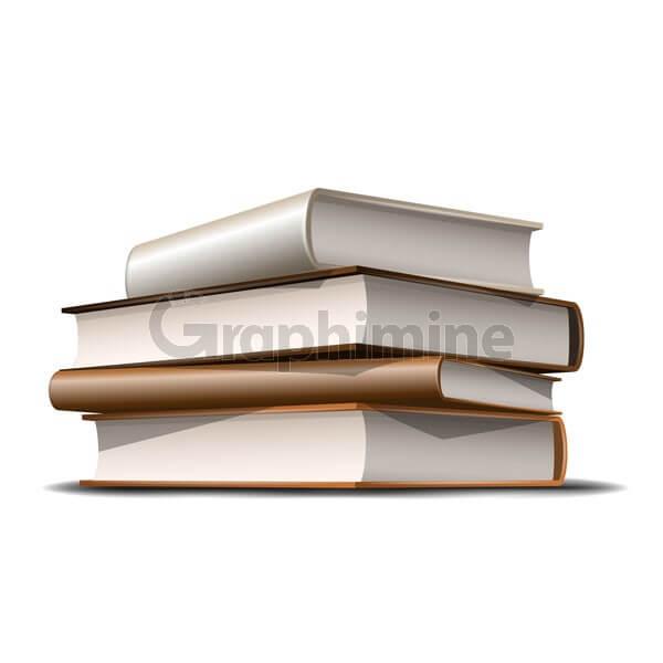 وکتور طرح ایلاستریتور کتاب قهوه ای