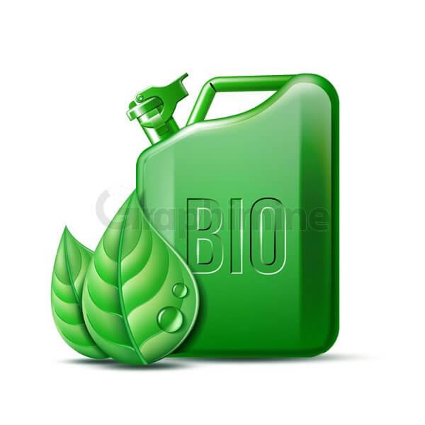 وکتور ظرف سوخت زیستی سبز