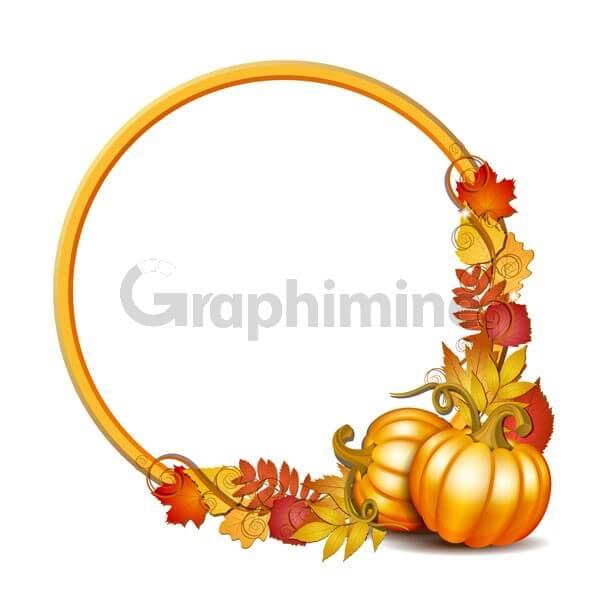 وکتور فریم برگ پاییزی کدو