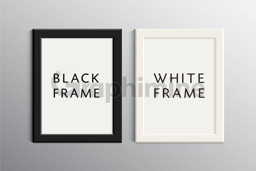 وکتور قاب عکس سفید سیاه