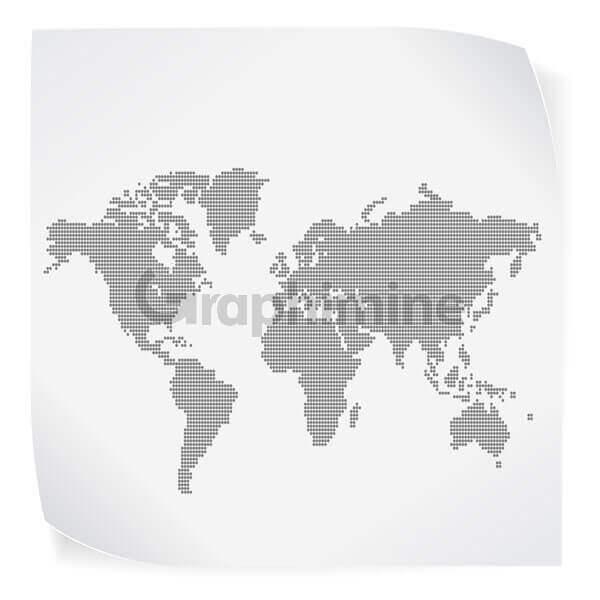 وکتور نقشه جهان کاغذ