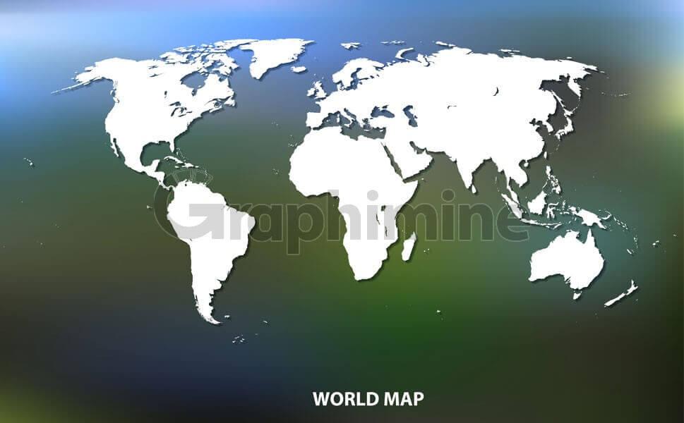 وکتور نقشه زمین سفید