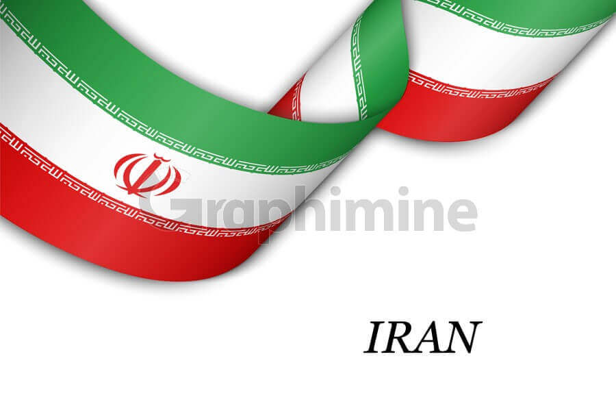 وکتور نوار مواج پرچم ایران