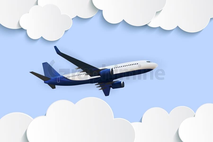 وکتور هواپیما ابر