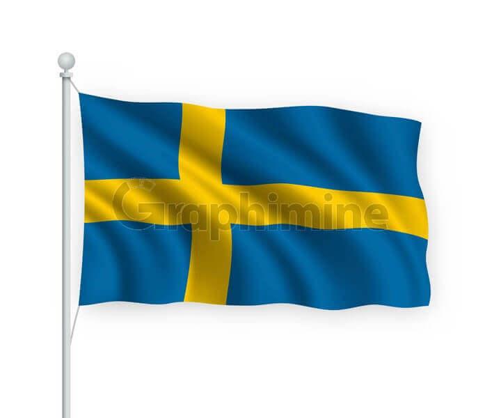 وکتور پرچم کشور سوئد