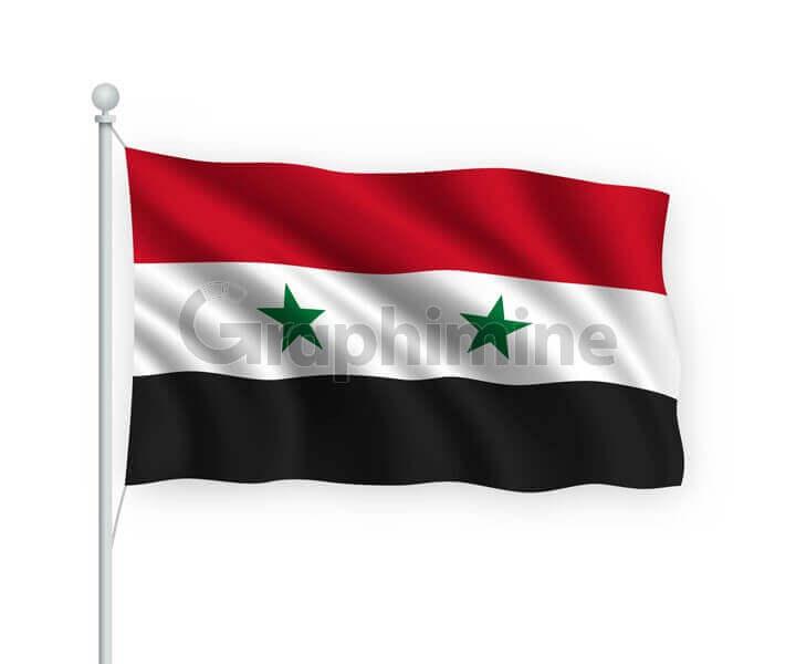 وکتور پرچم کشور سوریه