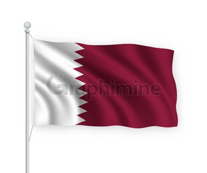 وکتور پرچم کشور قطر