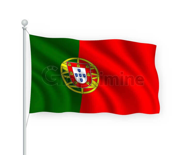 وکتور پرچم کشور پرتغال