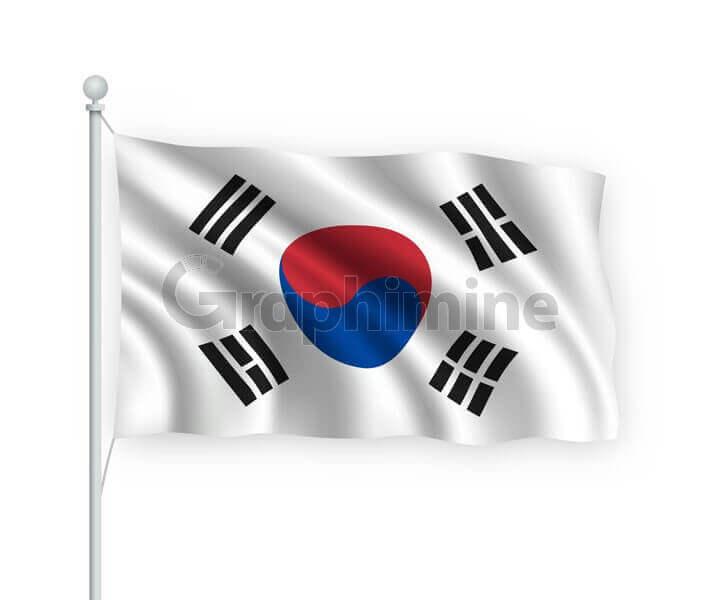 وکتور پرچم کشور کره جنوبی
