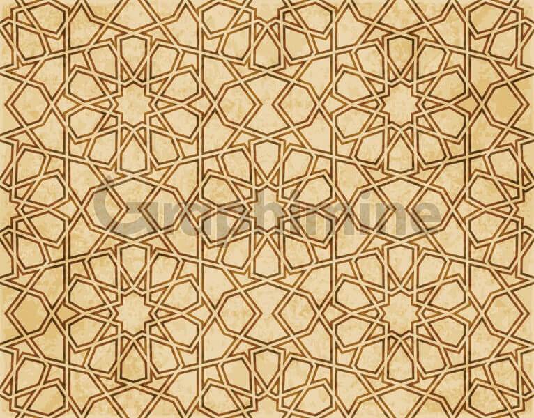 وکتور پس زمینه پترن الگو هندسی اسلامی شرقی