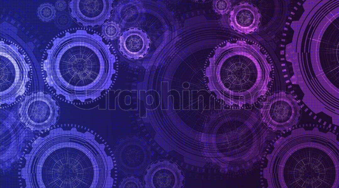 وکتور پس زمینه چرخ دنده تکنولوژی دیجیتال
