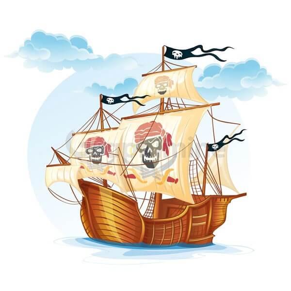 وکتور کشتی کاراول دزد دریایی