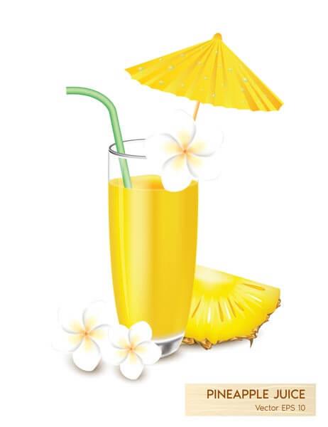 وکتور آبمیوه آب آناناس