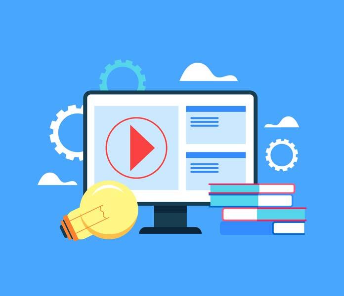 وکتور آموزش آنلاین اینترنتی
